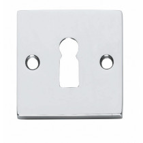 Intersteel Rozet vierkant met sleutelgat chroom