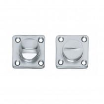 Intersteel Rozet toilet-/badkamersluiting vierkant chroom mat