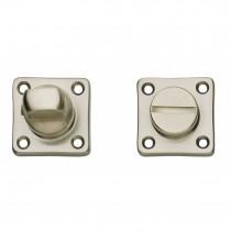 Intersteel Rozet toilet-/badkamersluiting vierkant nikkel mat