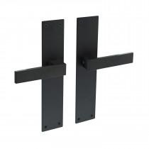 Intersteel Deurkruk Amsterdam met schild 250x55x2mm blind zwart