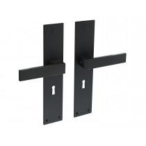 Intersteel Deurkruk Amsterdam met schild 250x55x2mm sleutelgat 56mm zwart