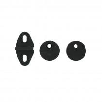 Intersteel Schuifdeursysteem geleider afstandhouders mat zwart