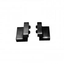 Intersteel Set van 2 stoppers tbv schuifdeursysteem, incl. bevestiging, mat zwart