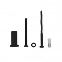 Set van 5 verlengde ronde steunen 50mm tbv rail schuifdeursysteem mat zwart
