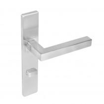 Intersteel Deurkruk Vierkant op rechthoekig schild toilet-/badkamersluiting 63 mm rvs geborsteld