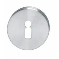 Intersteel Rozet sleutelgat rond verdekt kunststof rvs geborsteld