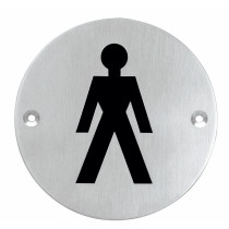 Intersteel Pictogram herentoilet rond
