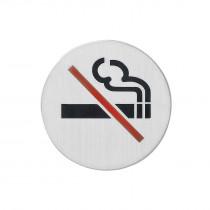 Intersteel Pictogram rookverbod zelfklevend rond rvs geborsteld