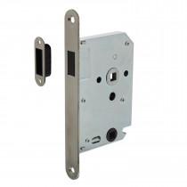 Intersteel Woningbouw magneet badkamer/toilet slot 63/8mm, voorplaat afgerond rvs