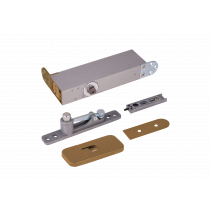 ODB-100G Taatsdeurscharnier goud - RAL 1036 - voor pivoterende deuren van max.100kg - goude afdekplaten