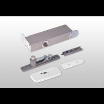 ODB-100W Taatsdeurscharnier wit - RAL 9010 - voor pivoterende deuren van max.100kg - witte afdekplaten