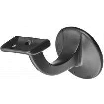 Hermeta Leuninghouder 65mm - Vlak zadel zwart - 3503-70 (Incl. bevestigingsmateriaal)