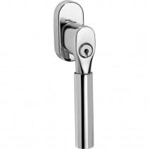 SKG2 Draaikiep sluiting Bauhaus/ovaal  glans nikkel