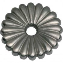 Rozet voor schroefhaak 33mm mat nikkel gelakt