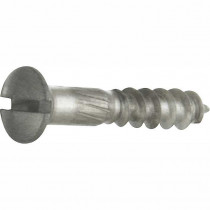 Houtschroef DIN 95 (4 stuks) 4,0x30 mm mat nikkel ongelakt