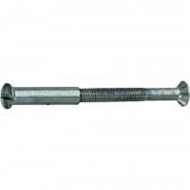Patentbout met huls (2st) M4 38x22mm mat nikkel ongelakt