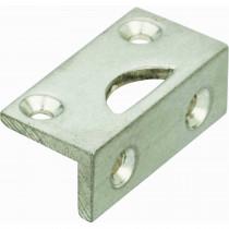 Hoeksluitplaat Halfrond antiek nikkel