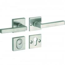 SKG3 kruk/kruk op rozet rechts Kare/Bauhaus m/ KTB mat nikkel / mat nikkel PVD