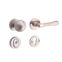 SKG3 knop/kruk op rozet rechts Linea/Elegant m/ KTB mat nikkel / mat nikkel PVD