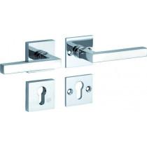 SKG3 kruk/kruk op rozet rechts Kare/Bauhaus m/ PC rozet glans chroom