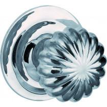 Voordeurknop Nouveau glans chroom