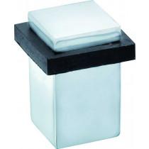 Deurstopper Vierkant glans chroom
