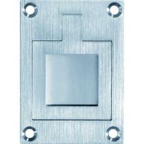 Luikring rechthoekig 66x48mm mat chroom
