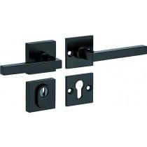 SKG3 kruk/kruk op rozet rechts Kare/Bauhaus m/ KTB mat zwart