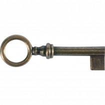 Meubelsleutel pijp 65x6mm messing brons geschuurd