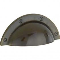 Schelpgreep Shell Messing brons geschuurd