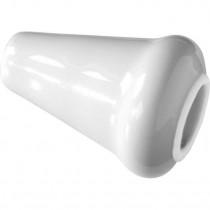 Lichttrekkerknop porselein wit