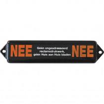 Emaille Tekst Nee/Nee 12x3cm