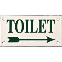 Emaille Picto Toilet RS Kl. 6x12cm ivoor/groen