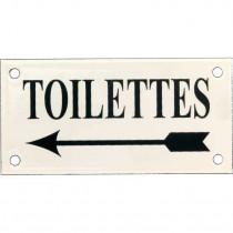 Emaille Picto Toilettes LS Kl. 6x12cm ivoor/groen